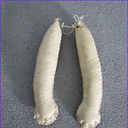 "Tiny Leather Doll Arms 2-1/2"" Long Cream Leather"