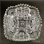 Imperial Glass NUCUT #5316A Square Bowl