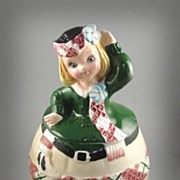 Lefton China Scottish Girl Cookie Jar #1173
