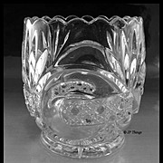 EAPG West Virginia Glass Company Scroll with Cane Band Spooner