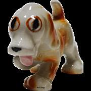 Adorable Spunky Caramel and White Dog United China & Gift Co