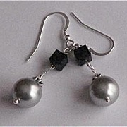 Beautiful Sterling Silver Swarovski Earrings