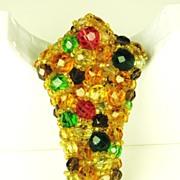 Coppola e Toppo Multi-Colored Crystal Bead Pin