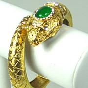 SALE Kenneth Jay Lane Hinge Clamper Snake Watch Bracelet