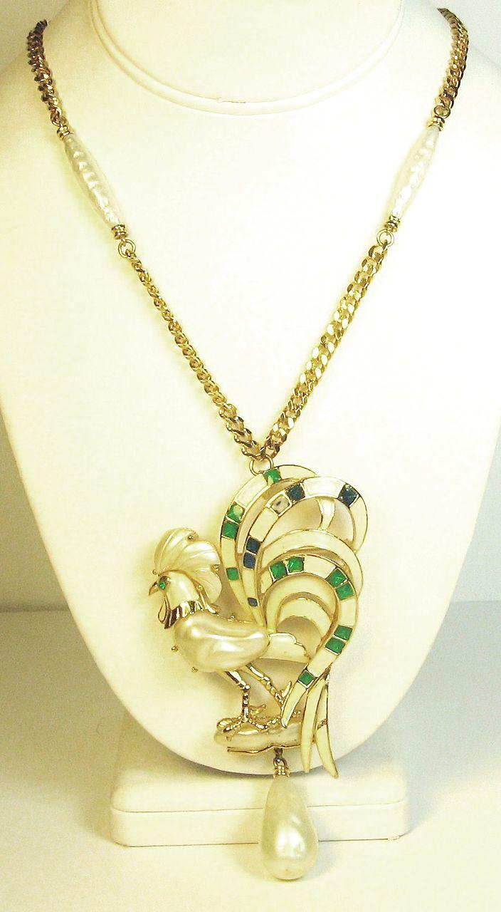 Item ID: 2189- H.C. Rooster Necklace In Shop Backroom