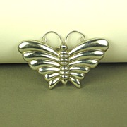 925 Sterling Butterfly Brooch with C Clasp