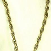 DeNicola/Hattie Carnegie French Themed Dangle Coin Key Necklace