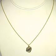 14kt Gold Friend Pendant Necklace