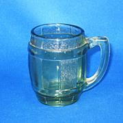 Vintage 1970s Green Glass Mini-Mug