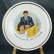 Vintage President and Mrs. John F. Kennedy Collectors Plate