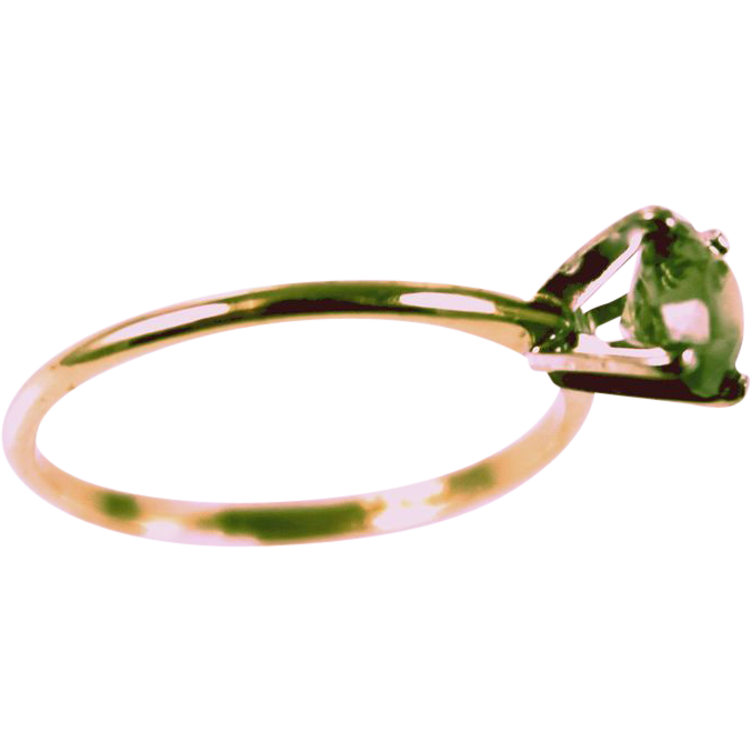 No Heat .95ct Natural Madagascar Color Change Green To Pink Tourmaline 14K Gold Solitaire Ring