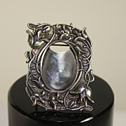Miniature sterling silver photo frame