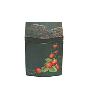 Amazing hand painted wood wooden trinket box with turtle