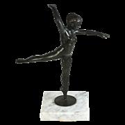 Joseph Brown (1909 -1985)bronze sculpture of a dancing ballerina, signed & numbered