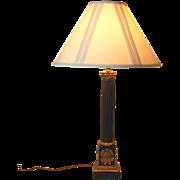 Gorgeous vintage Neo classical column lamp