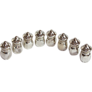 Set of Eight Sterling Silver Salt Pepper Shakers