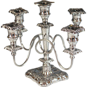 Vintage White-Metal Five Light Candelabra