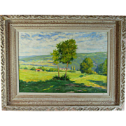 French Landscape oil painting signed- Dumont 1928