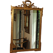 19th Century French Louis XVI Style Gilded Mirror