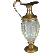 Venetian Glass and Silverplate Claret Jug Wine Decanter