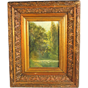 Oil on Panel Landscape French School unsigned