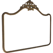 Antique French Over-Mantle Mirror with Gold Frame