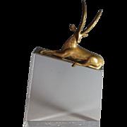 Dore Bronze sculpture of a Gazelle by Dutch Sculptor Loet  Vanderveen (1921- 2015)
