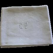 10 Antique French Monogrammed Napkins C F Set of 10 Lapkins