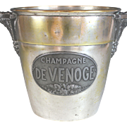 Antique Silver Plate Champagne Bucket De Venoge Silverplate