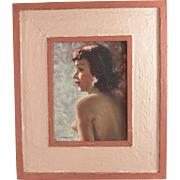 Oil on Board Nude with Reverse Upper Body Pose Signed H P Maeder  (1886- 1983)