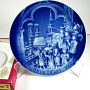 Bareuther Porcelain Christmas Plate 1972