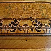 REDUCED Lg. Marquetry Box-Art Nouveau