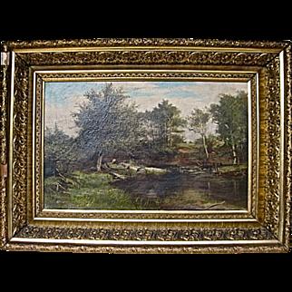 D.D. Coombs (1850-1938) Maine Landscape Oil Painting
