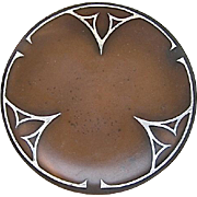 Arts and Crafts Sterling on Bronze Tray