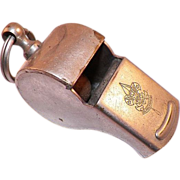 REDUCED Vintage Nickle Plate Boy Scout Whistle Made In USA