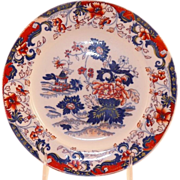 Antique Minton Polychrome Plate Amherst Asian Pattern