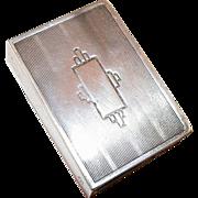 Vintage Webster Sterling Match Box