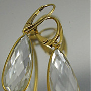 Earrings ~ CLARITY ~ Rock Crystals & Vermeil
