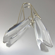 Drop Earrings ~ ICE QUEEN ~ Swarovski Crystal, Sterling Silver