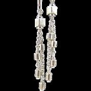 Dangle Earrings ~ SWING SET ~ Fine Silver, Sterling Silver