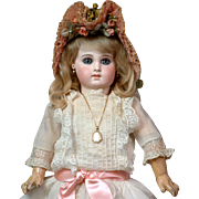 Early Size 8 Portrait Jumeau Bebe ~Perfect Condition & All Original~