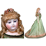"29"" Bisque Arm Fashion Doll By Eugene Barrois~Rare Body+Cobalt Eyes C. 1862 ~Layaway Available~"