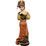 Gorgeous Exotic Oriental SFBJ 60 Display Bisque Doll w/Stand & Undeniable Presentation!