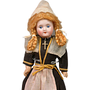 """Superb 9"""" SFBJ 60 French """"Normandy Girl"""" All Original Costume with Painted Eyes"""