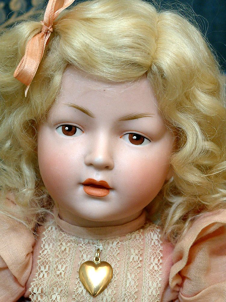 """14"""" Extremely Rare Hertel & Schwabb 140 Character Toddler With Extremely Expressive Face!"""