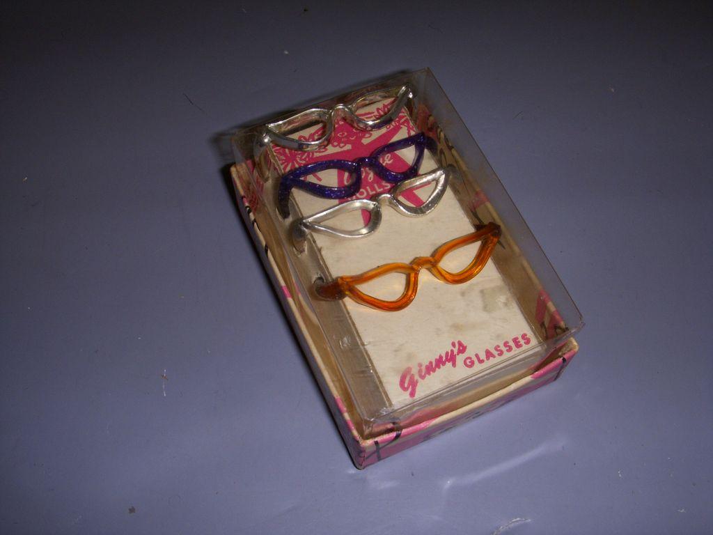 HTF Vintage Boxed Set of 4 Vogue Ginny Glasses!