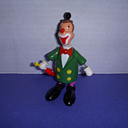 """Vintage Wooden Toy Nodder Clown Figure by """"Goula"""" Made in Spain!"""