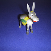 """Vintage Wooden Toy Nodder Donkey Figure by """"Goula"""" Made in Spain!"""