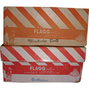 Vintage Flagg Doll Boxes and Insert!