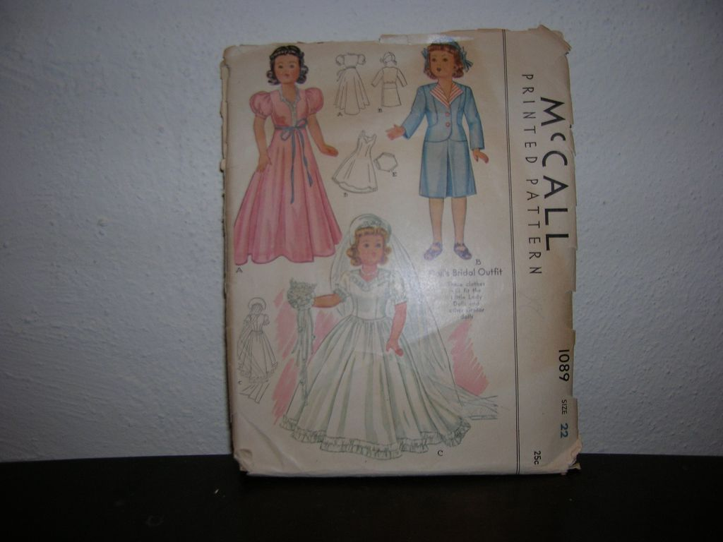 "McCall Vintage McCall Doll Pattern for Effanbee Little Lady and other similar 22"" dolls"